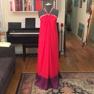 Max and Cleo orange red purple maxi dress